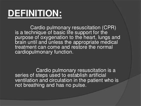 Modified Cpr Definition by Ppt On Cpr