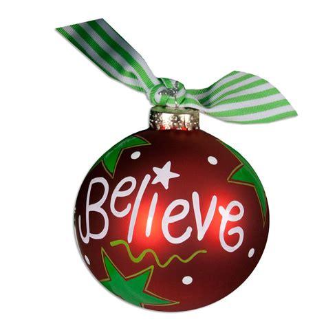 believe christmas ball ornament