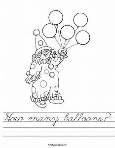 How many balloons worksheet cursive twisty noodle for Cursive letter balloons