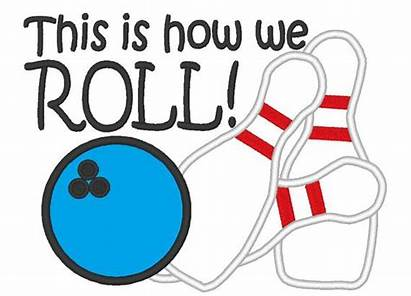 Bowling Roll Applique Clipart Embroidery Clip Designs