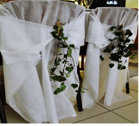 housse de chaise mariage 100 housses de chaises en voile d hivernage épais mariage