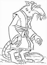 Splinter Coloring Master Pages Getcolorings Humanoid Print sketch template