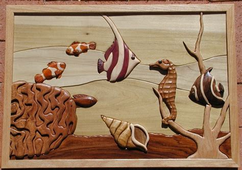 island cove intarsia pattern intarsia woodworking