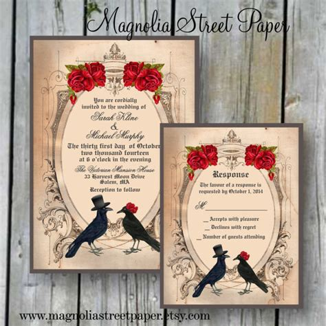 spooktacular halloween wedding invitations glitter  spice