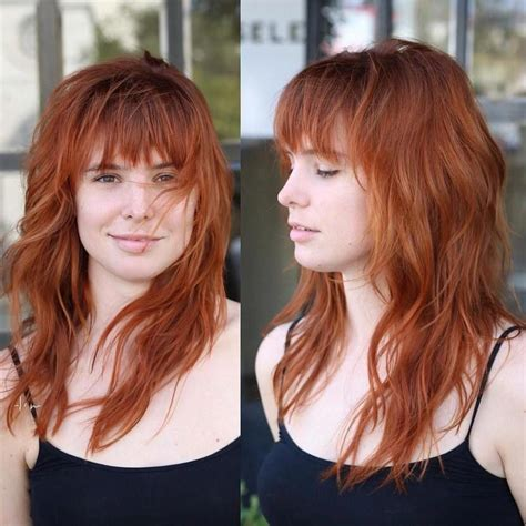 17 Gorgeous Long Hair with Side Bangs for 2019 Red hair