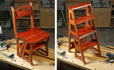 project plan convertible step stool chair woodworking
