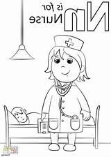 Nurse Coloring Pages Sheets Characters Colouring Disimpan Dari sketch template