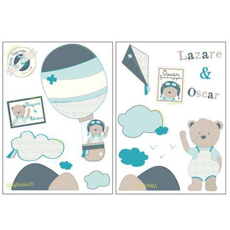 chambre sauthon lazare stickers muraux bleu de sauthon baby déco stickers