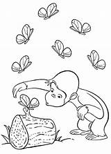 Curious George Coloring Pages Printable Butterfly Motor Fine Bestappsforkids sketch template