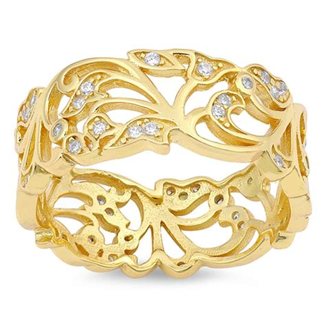 Filigree Ring New 925 Sterling Silver Wide Cutout Band. Mens Gold Bangle. Claddagh Bands. Retro Bracelet. Collage Rings. Pave Diamond Wedding Band. Cartier Brooch. Plugs Earrings. Beed Bracelet