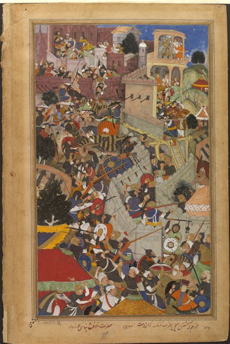 siege emperor akbar shoots jaimal at the siege of chitor