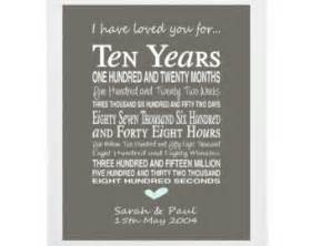 25th wedding anniversary plate 10th anniversary gift personalised anniversary print