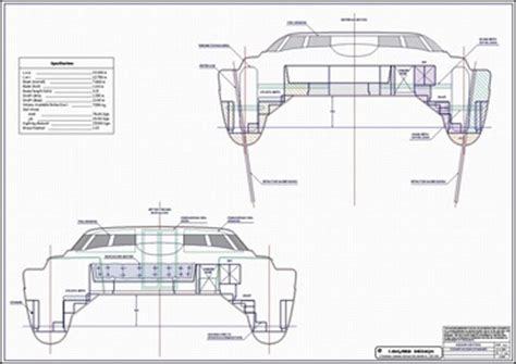 Catamaran Hull Structure by 무인도 탐사여행 개발 매매 디자인 1