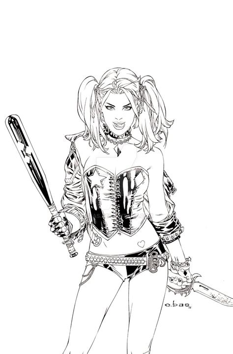 harley quinn suicide squad coloring pages sketch coloring page