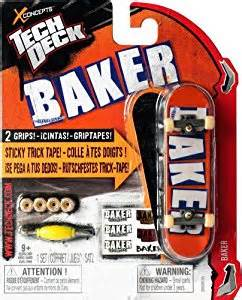 tech deck 96mm fingerboard with sticky trick baker co uk toys