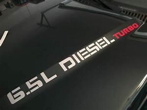 6 5l Turbo Diesel Hood Decals Emblem Logo Chevy Silverado