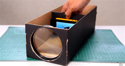 build  smartphone projector   shoebox projection