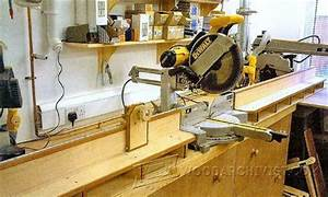 Miter Saw Table Plans - Miter Saw Tips, Jigs and Fixtures