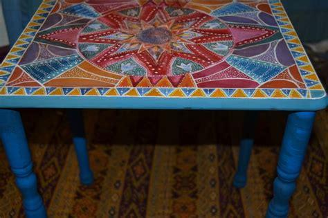 Indian Mandala, Small Tables And Mandalas On Pinterest