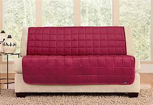 Deluxe armless furniture cover for sofa for Armless sectional sofa pet protector