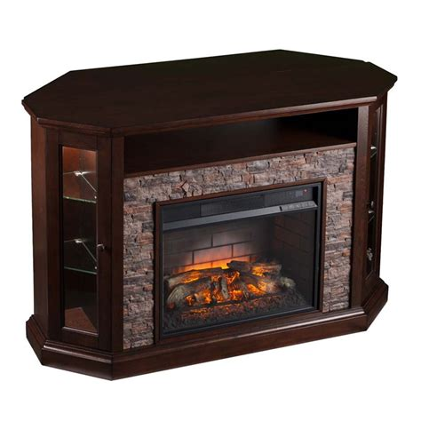 corner electric fireplace tv stand southern enterprises redden corner electric fireplace tv