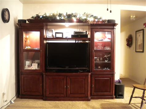 cherry wood entertainment center homesfeed