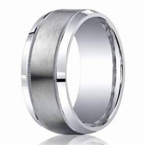 men39s argentium silver ring with milgrain edge 9mm With men silver wedding rings