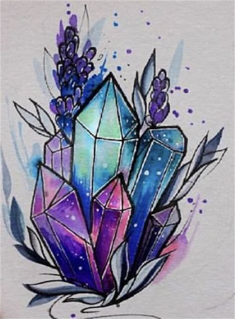 popular crystal tattoo designed  famous tattooers