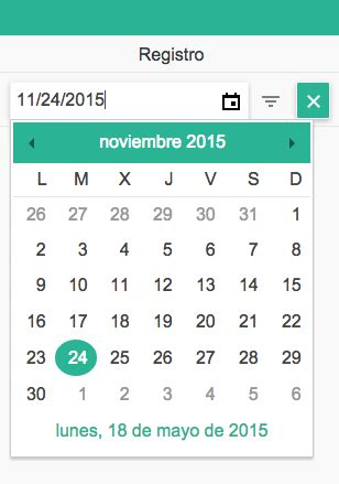 kendo ui php grid filter row date picker  spanish date