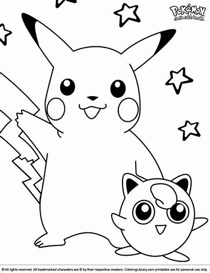 Pokemon Coloring Pages Pikachu Sheets Christmas Library
