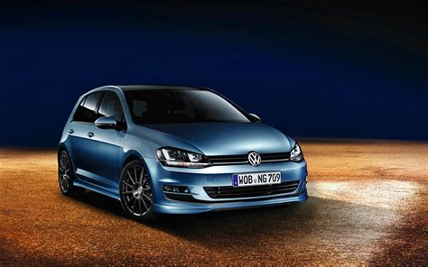 volkswagen golf  golf vii car blue cars wallpapers hd