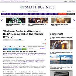 Marijuana Dealer Resume by Ok The Otherside Doug Pearltrees