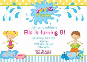 Kids Pool Party Invitations Home Party Ideas