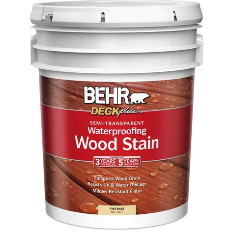 Behr Deck Plus Waterproofing Wood Stain