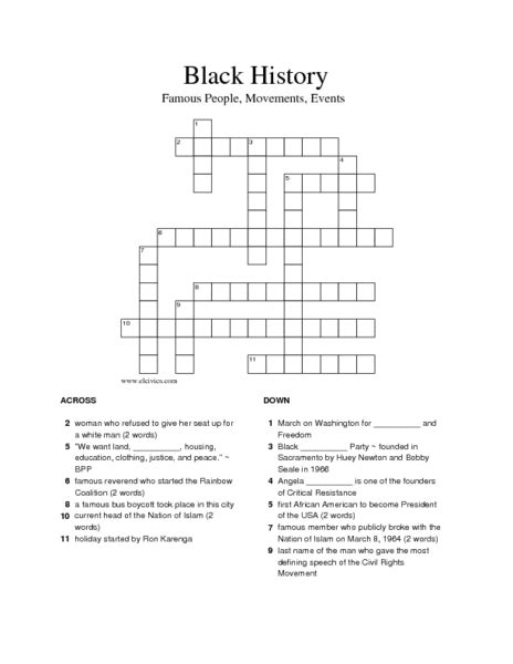 Free Printable Black History Worksheets  History Worksheets For 6th Grade Free Worksheetstop 10