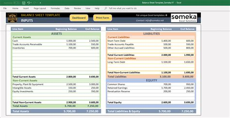 excel balance sheet template  accounting templates