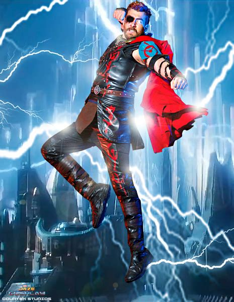 thor ragnarok lightning cosplay by captainjaze on deviantart