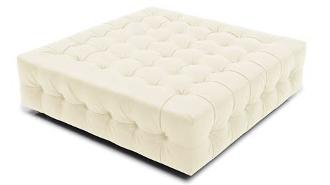 Upholstered Ottoman by Modern Tufted Fabric Upholstered Sonja Ottoman Zuri