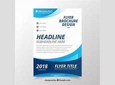 Modern wavy business brochure template Vector Free Download