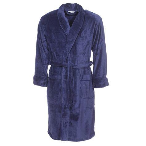 robe de chambre hommes robe de chambre col châle mariner en polaire bleu marine