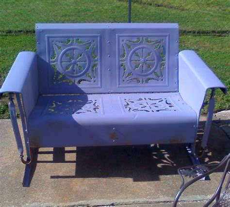 Metal Loveseat Glider by Check Out Lavender Loveseat Metal Vintage Porch And
