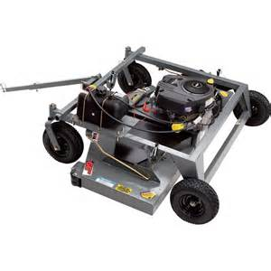 swisher finish cut tow behind mower with electric start