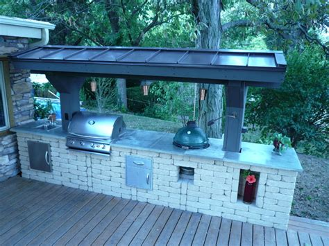 lights for island kitchen outdoor kitchen traditional deck chicago by