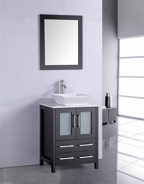 24 inch vanity with sink legion 24 inch modern vessel sink bathroom vanity espresso