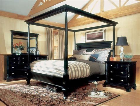 magnussen hastings king size  poster canopy bed set