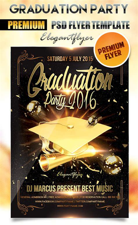 graduation templates  psd images graduation party