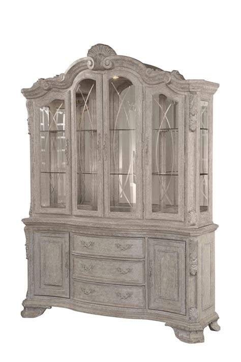 grey china cabinet renaissance antique grey china cabinet with ornate carvings