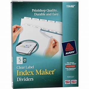 Avery 11446 clear label index maker dividers nordiscocom for Avery 11446