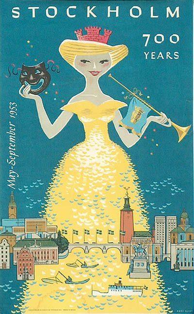 original vintage poster stockholm  years  sale