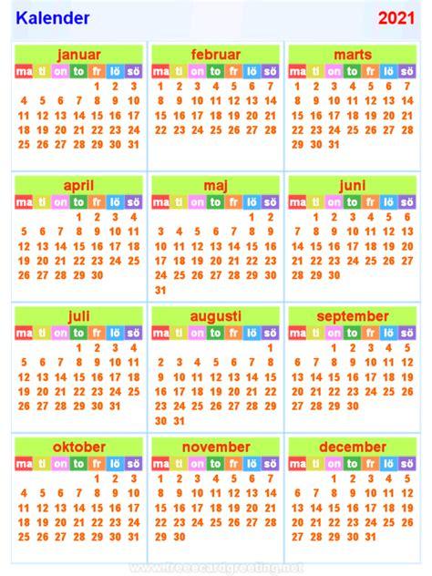 kalender horizontaal en verticaal